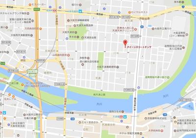【地図】クイーンズコート天満