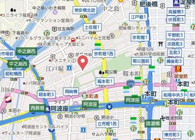 【地図】プレサンス京町堀
