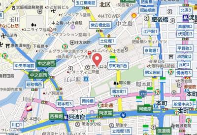 【地図】メインステージ京町堀