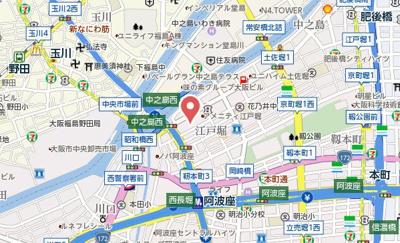 【地図】みおつくし江戸堀