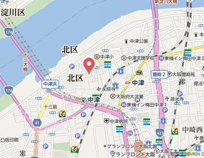 【地図】エスリード梅田グランノース
