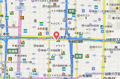 【地図】ルクレ堺筋本町レジデンス