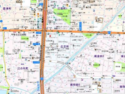 【地図】エスリード江坂広芝町