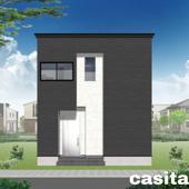 大仙市大曲日の出町1丁目C 大曲小学校区のオール電化新築建売住宅 3LDK消雪道路の画像