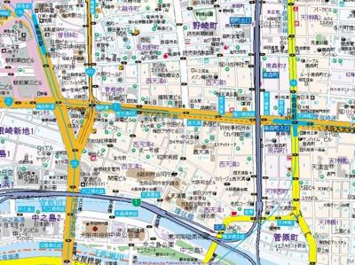 【地図】プレサンス南森町駅前