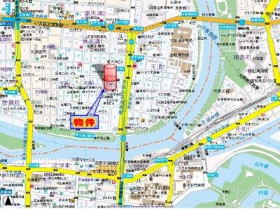【地図】プレサンス天満橋アンジェ