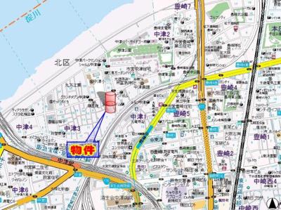 【地図】プレサンス梅田北デイズ