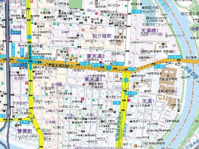 【地図】ラナップスクエア東天満