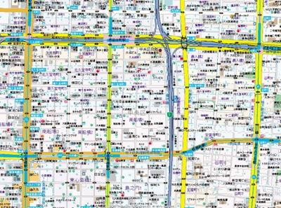 【地図】プレサンス心斎橋モデルノ