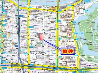 【地図】プレサンス大手前パークサイド