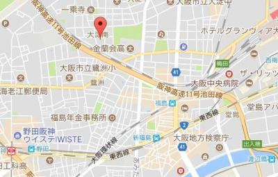 【地図】ポルト・ボヌール梅田WEST