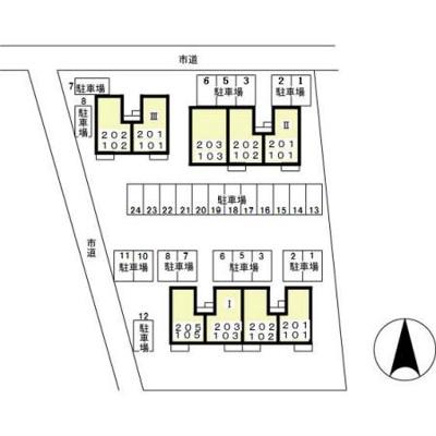 【区画図】サントビーヴィレッジ Ⅱ