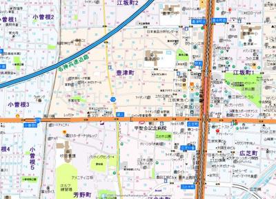 【地図】BPRレジデンス江坂