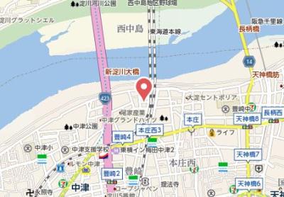 【地図】SAMTY KITAUMEDA RIVE