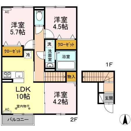 【新築】仮)D-room黒石野の画像