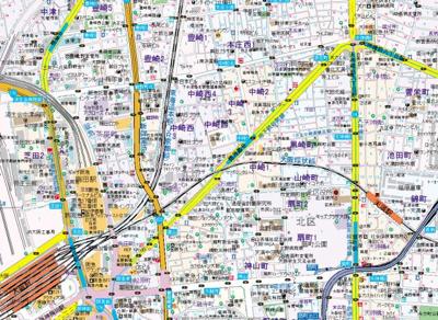 【地図】フレアコート梅田