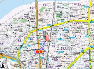 【地図】トレヴァンス梅田