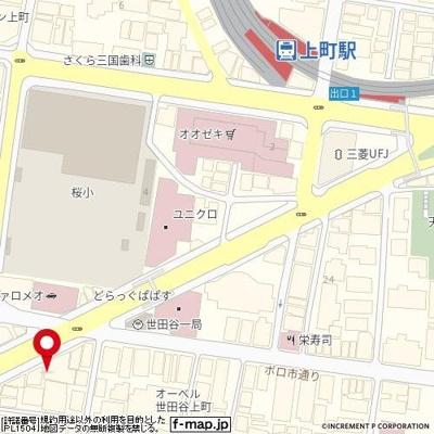 【地図】BLESS SETAGAYA