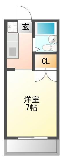 使いやすい7帖の広めのお部屋