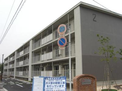 【外観】ニッケノーブルハイツ北方2号棟