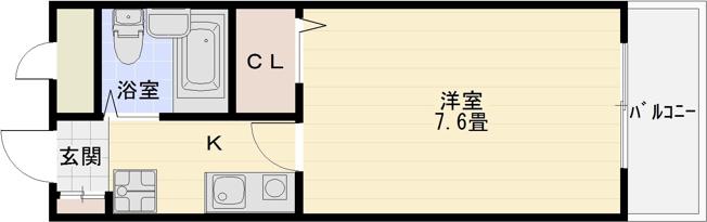 河内国分駅 関西福祉科学大学 関西女子短期大学 大阪教育大学 1K