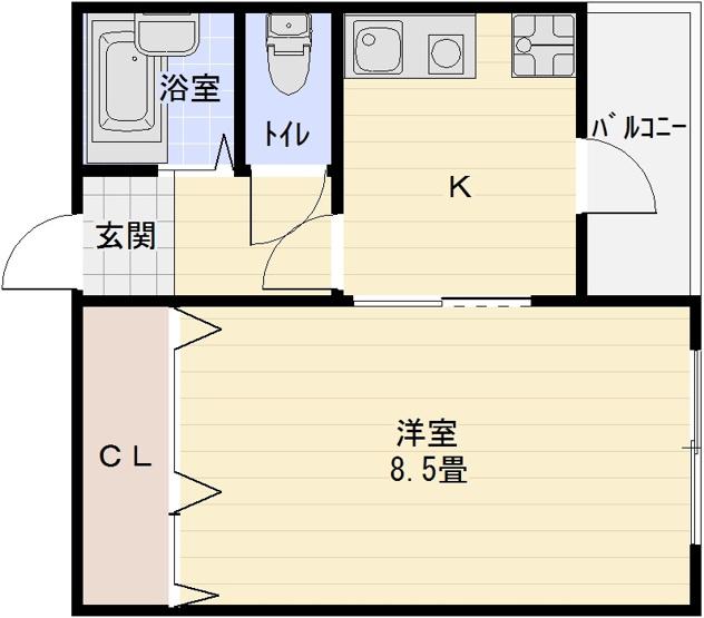マービーハウス3 1K 河内国分駅