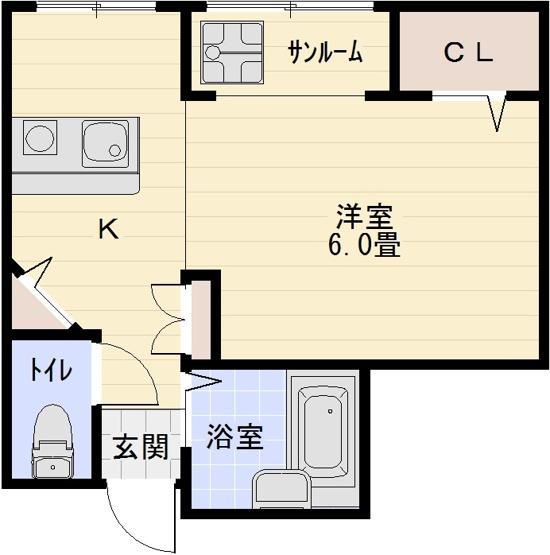 アールハイツ 河内国分駅 大阪教育大前駅 1R