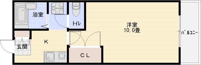 コンドウハイツ(柏原市旭ヶ丘) 1K 10畳