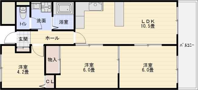 柏原市 近鉄安堂駅 3LDK