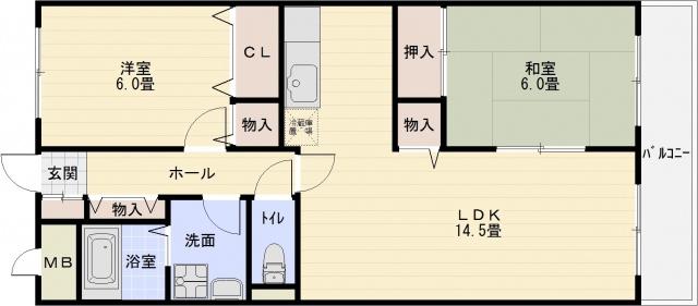 恩智駅 志紀駅 2LDK 独立キッチン