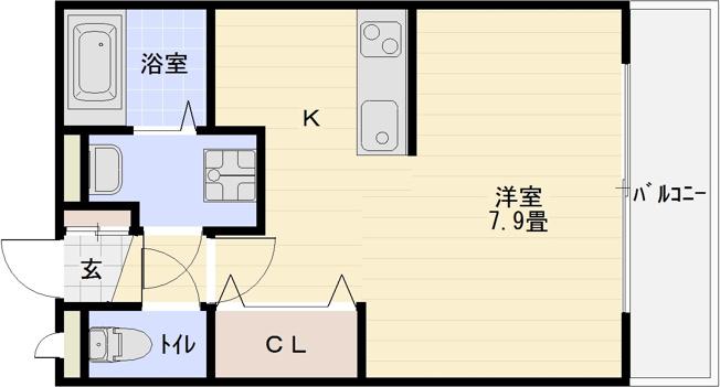 ソレイユ 1K アパート