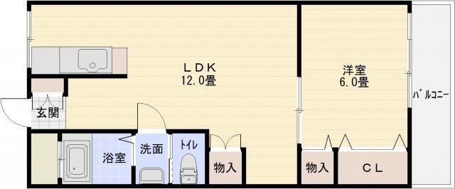 マンション完洋荘(柏原市国分西) 1LDK