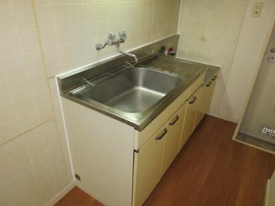 ガスコンロが置けるキッチンセット