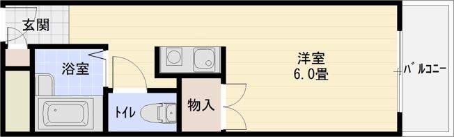 羽曳野市 バストイレ別 ワンルーム