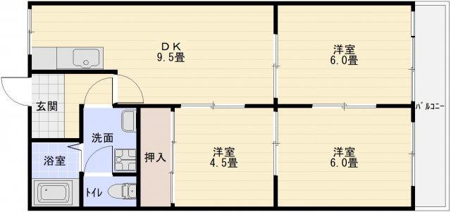パールハイツ高木(ペット可) 3DK