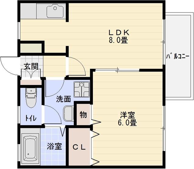 ドリーム5(安堂駅・柏原駅) 1LDK