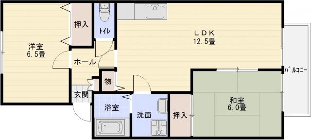グレープヒルパセオ 2LDK アパート ハイツ