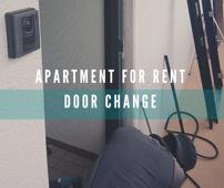 賃貸マンション玄関ドア 30部屋チェンジの画像