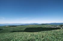 霧ヶ峰高原でハイキングの画像