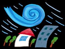 台風接近の画像