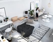 一人暮らしにおすすめする賃貸住宅に使うラグについての画像
