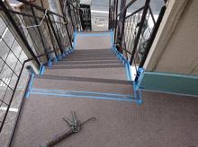 アパートの廊下シート交換工&バルコニー防水工事の画像