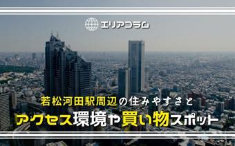 若松河田駅周辺の住みやすさとアクセス環境や買い物スポットの画像