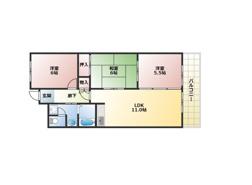 平野区 喜連瓜破エリアのファミリー向けのマンションのご紹介です。の画像