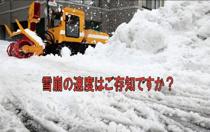 雪崩の速度はご存知ですか?の画像
