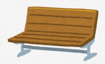 手作りベンチ完成!!の画像