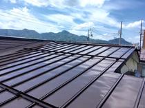 大仙市大曲の屋根塗装 足場を利用して外壁塗装と同時施工の画像