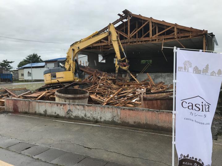 大仙市土地物件お引き渡し前に 解体工事が終了いたしました。の画像
