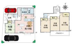 【新規販売】伊丹市平松1丁目新築戸建 完成済み限定2区画です。の画像