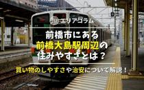 前橋市にある前橋大島駅周辺の住みやすさとは?買い物のしやすさや治安について解説!の画像